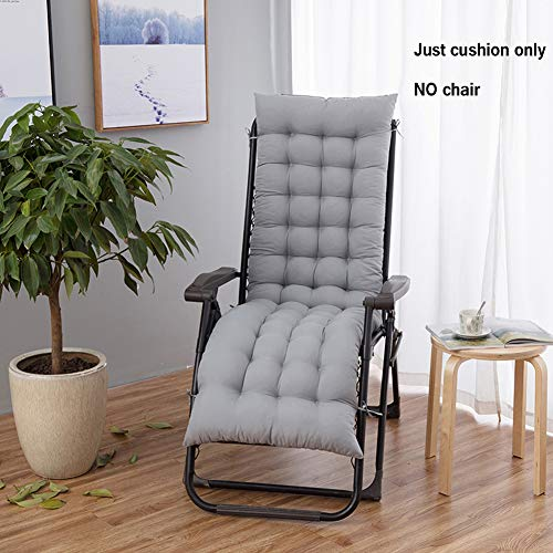 YBing Cojines para Tumbona de jardín, Almohadillas para Muebles reclinables, sillas, tumbonas, Exteriores, jardín, Patio, cojín de Repuesto, Grueso
