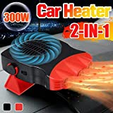 WonVon 12V 150W Car Heater, Vehicle Heater Fast Heating Cooling Fan Hot Warm Heater Windscreen Demister Defroster 2 in 1 Portable Auto Car Van Heater