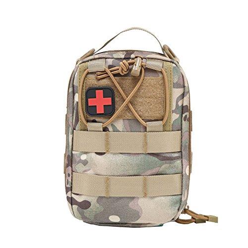 Someas Tactical Molle Medical EMT Pouch First Aid Utility Pouch with Shoulder Straps Sac de Premiers Secours Etanche Tactique Soins Sacs Utilitaires Militaires Emergency Pouch Randonnee Camping