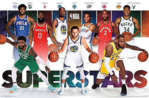 Trends International NBA League - Superstars, 22.375' x 34', Premium Unframed