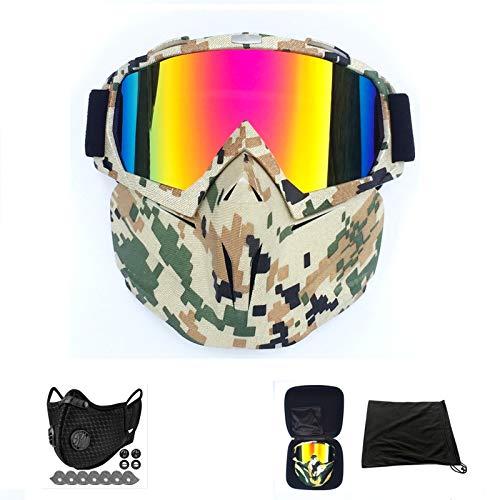 Heren Dames Ski Snowboard Brillen, Motor Motocross Racing Goggles, Buitensporten Skiën Masker Zonnebril,E