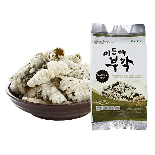 Seaweed Sweet Rice Crisps Kelp Flavor Crunch Bites Korean Snack 1.06 Ounce (Pack of 8) Non-GMO Gluten Free 0g Sugar
