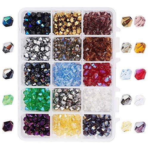 RENSHENKTO Cuentas de vidrio facetadas Elite para collar y pendientes joyería 900 piezas