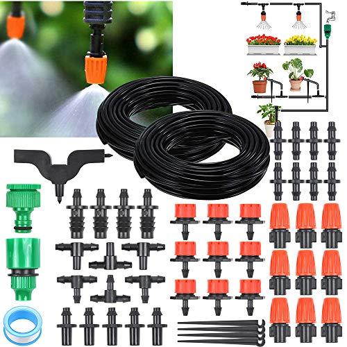 OTUAYAUTO 30M Watering System Garden Irrigation Kit DIY Micro Automatic Sprinkler for Garden, Flower Bed, Patio Plants