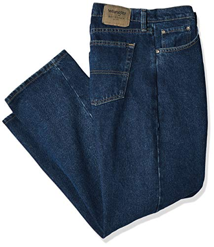 Wrangler Authentics Men's Authentics Relaxed Fit Jean-Cotton, Dark Stonewash, 36W x 32L