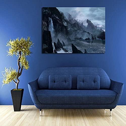 GBHNJ Mural 1 Piezas Pintura En Lienzo,1 Piezas Cuadros En Lienzos Cielo En Uncharted Modular Moderna 1 Piezas,Mural Pared Salon 3D,Decorativo Pared,Listo para Colgar,Creative Gift XXL 50X70Cm