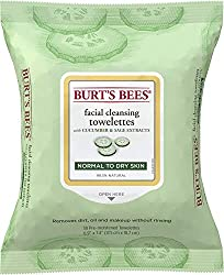 Burt's Bees Sensitive Facial Cleansing Towelettes with Cucumber and Sage - 30 Count