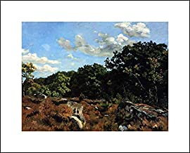 Frederic Bazille 20x16 Art Print - Landscape at Chailly
