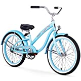 Firmstrong Bella Classic Girl's Single Speed Cruiser Bicycle, 20-Inch, Baby Blue