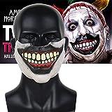 American Horror Story Twisty Clown Mask Cosplay Horror Joker Half Face...