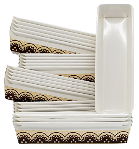 MontoPack Baking Paper Loaf Pans 11 x 3.5 x 2 Inches (Pack of 24)