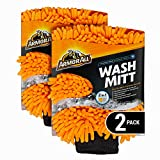 Armor All Microfiber Car Wash Mitt, Cleaner for Bugs or Dirt, for Cars & Truck & Motorcycle, 2 Pack, 19453