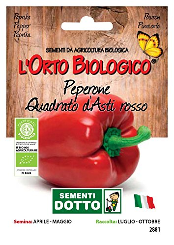 Sdd O.Bio_Peperone Quadrato D'Asti Rosso Semi, 0.02x15.5x10.8 cm