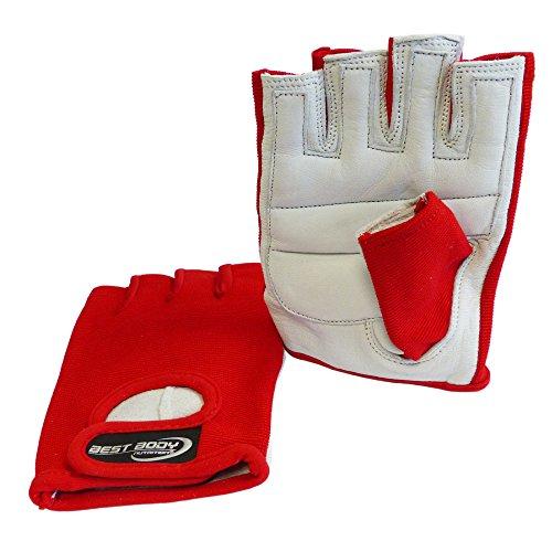 Best Body Nutrition Power Handschuh, Mehrfarbig (rot), S