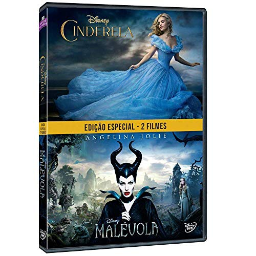 DVD Edição Especial 2 Filmes Cinderela + Malévola