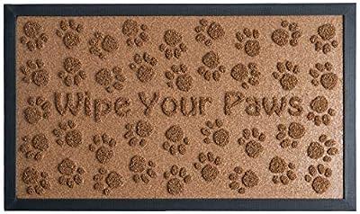 Extra Durable Door Mat Outdoor/Indoor - Non-Slip Entry Door Mat (30 x 18) - Easy Clean Front/Back Door mat - Rubber Doormat Outside Inside - Dog Pet Mat Rug - Waterproof Floor Mat - Entryway Rug