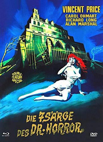 Die 7 Särge des Dr. Horror  (+ Bonus-DVD Das Geheimnis von Schloß Monte Christo)  - Mediabook - Cover C - Limited Edition auf 111 Stück - X-Rated-Eurocult-Collection #61 [Blu-ray]