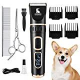 VOVO Dog Clippers Professional 3-Speed Low Noise Pet Grooming Kit Tools Rechargeable Cordless Electric Hair Clippers for Dogs Cats Pets