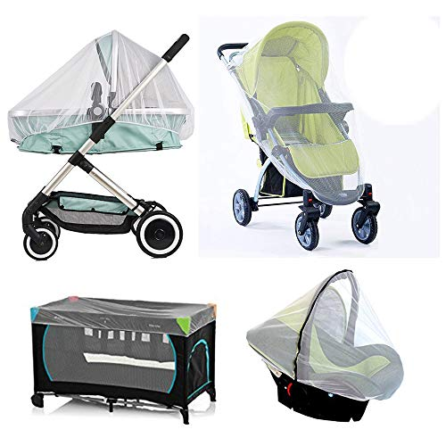 Pram Net, Universal Mosquito Fly Bug Insect Net Protection Cover for Pushchair Car seat Buggy carrycot Bed Stroller Bassinet Basket Jogger Travel cot
