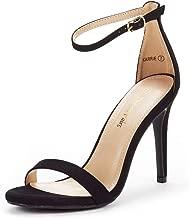 black strap stiletto heels