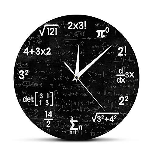 yage Ecuaciones y notaciones matemáticas Pizarra de matemáticas Reloj de Pared Geek Regalos educativos para niños Maestros Decoración de Aula Escolar
