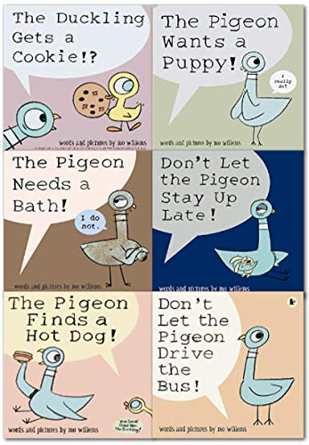 Duif Pack (4 Book Set) (De Duif vindt een Hot Dog! ; Laat Duif de Blijf Up niet te laat! ; De duif wil een puppy! ; Laat de Duif niet de bus rijden!) van Mo Willems (2010-08-01)