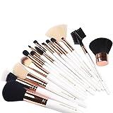 STYL0 Makeup Brushes 15 Piece Rose Gold Professional Makeup Brush Set Kit