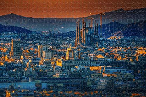 España Basílica de la Sagrada Familia Barcelona rompecabezas para adultos 1000 piezas rompecabezas de madera para adultos