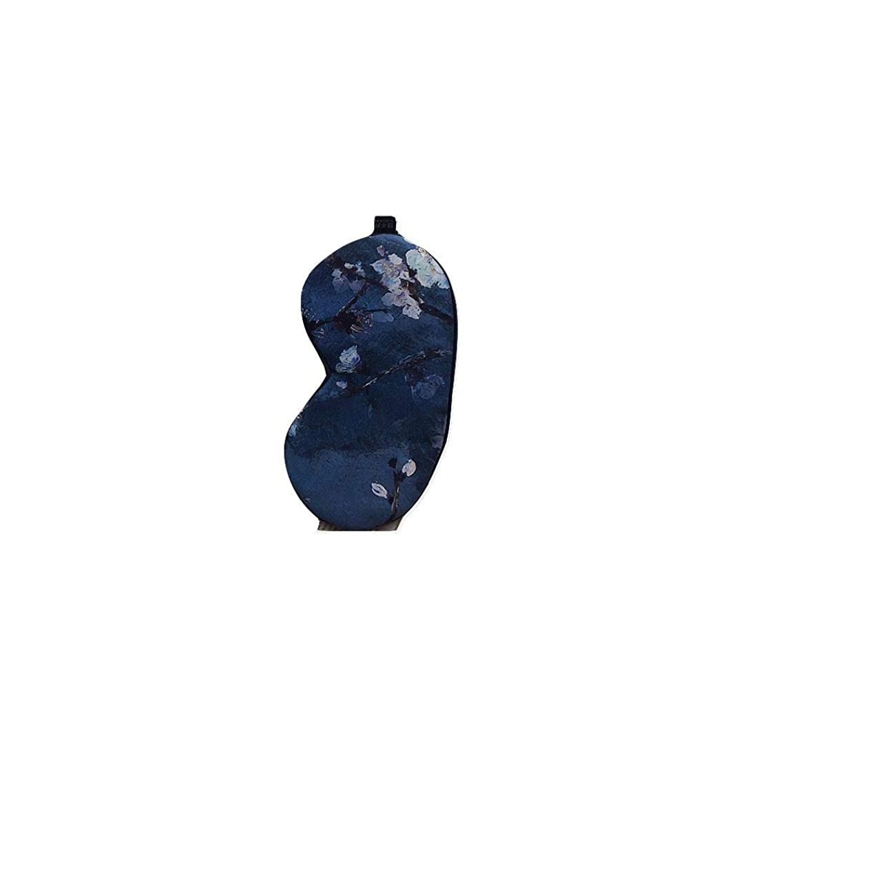 困惑する団結寄生虫シルクアイマスクは、目の疲れダークサークルを緩和することができます、女性モデルの睡眠シェーディング学生通気性の目の保護、加熱と加熱 (Color : Blue)