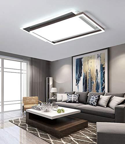 S-L Lámpara de luz de techo regulable, accesorio moderno de iluminación de techo LED, lámpara de techo de geometría americana, modo de cambio de 3 colores 3000-6000k, para sala de estar Dormitorio Bal