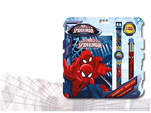 Spiderman–Set mit Uhr, Tagebuch und Kugelschreiber (Kids mv92382)