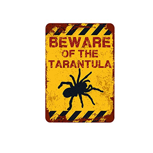 CaiBaiHui Household Classic Tin Sign Beware of The Tarantula Bar Club Cafe Home Wall Art Decoration Posters Retro 8 x 12 Inches