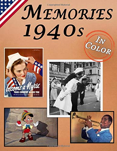 Memories: Memory Lane 1940s For Seniors with Dementia (USA Edition) [In Color, Large Print Picture Book] (Reminiscence Books)
