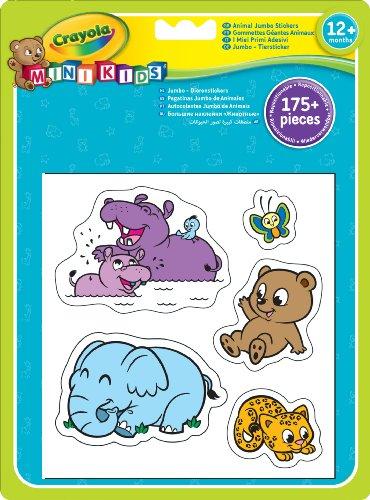 Crayola Mini Kids - 12599 - Loisir Créatif - Gommettes Géantes Animaux