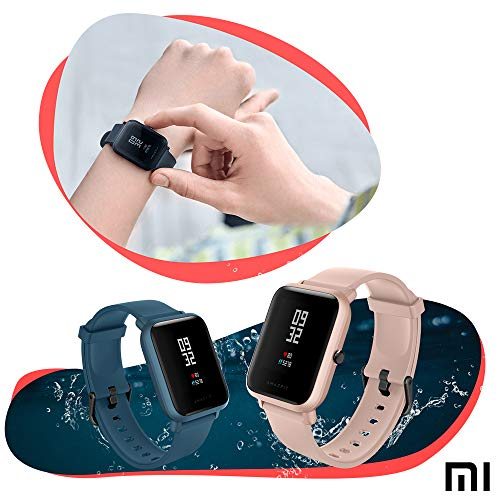 Amazfit Bip LITE SmartWatch Xiaomi Activity Marine Monitors Gym Resistant 30 meters Pulsometro iOS & Android Sports Mode (International Version - 45 days battery) Pink