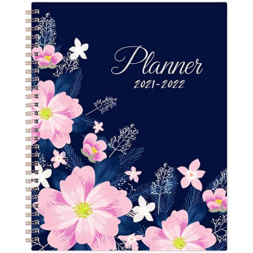 2021-2022 Planner - Weekly & Monthly Academic Planner, 8' x 10', Jul 2021 - Jun 2022, Twin Wire Binding, Check Boxes as to-do List, Perfect for...