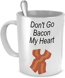 Shimaier マグカップ Bacon Coffee Mugs -Don't Go Bacon My Heart - I Couldn't If I Fried