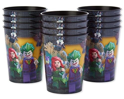 American Greetings Lego Batman Plastic Cups for Kids (12-Count)