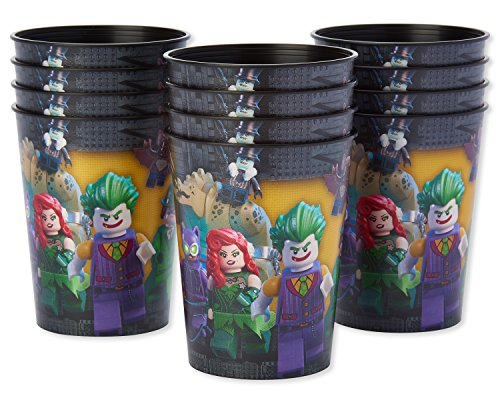 American Greetings Lego Batman Plastic Cups for Kids (12-Count)