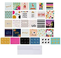 72-Pack All Occasion Mini Greeting Cards - Small Blank Note Cards for Birthday, Wedding, Baby Shower, Flower Bouquets, Gift Tags, Bulk Variety Pack with 72 Envelopes and 72 Stickers, 2.5 x 2.5 Inches [並行輸入品]