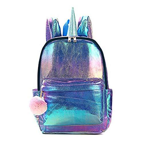 PINKE Gradient Handtasche Kleinen Frischen Retro-Sen Rucksack Kühlen Rucksack Mode Rucksack Multifunktionsrucksack(Blue)