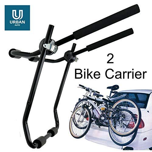 The Urban Company Tylny bagażnik rowerowy pasuje do Saab 9-3, 3 rowery, tylny bagażnik rowerowy, tylna klapa, bagażnik