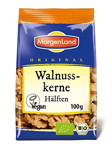 MorgenLand Bio-Walnusskerne Hälften, 2er Pack (2 x 100 g)