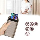 Cell Phone Anti-Radiation Sleeve Faraday Bag Pregnant Phone Rf Signal Shielding Blocker 5G GPS EMF RFID Signal Blocking Bag Car Key Wallet Security Pouch Privacy Protection (A)