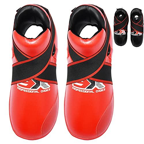 3X Professional Choice Boxstiefel Rotes Tai-Chi Fußschutz Stiefel Weiche Kissenschichten Von Hand nähen (MEHRFARBEN/GRÖSSEN)