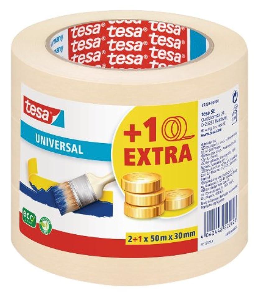 tesa 55338-00000-06 Universal Masking Tape ecoLogo Pack of 3