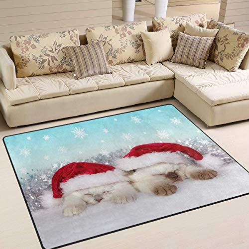 Area Rug kerstmuts voor woonkamer, slaapkamer, 63 x 48 cm 63x48 inch Image 1131