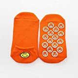 Cfiret 5 Paare Smiley Socken Silikon-Anti-Rutsch-Trampolin Socken for Erwachsene & Kinder Urlaub...