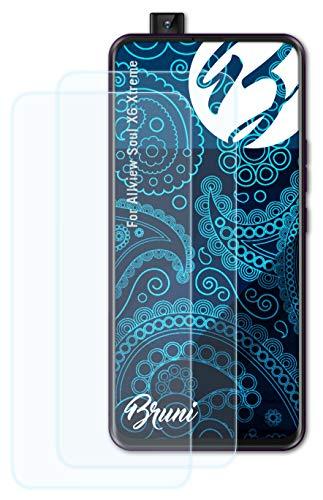 Bruni Schutzfolie kompatibel mit Allview Soul X6 Xtreme Folie, glasklare Bildschirmschutzfolie (2X)