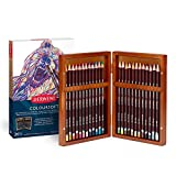 Derwent Colored Pencils, ColourSoft Pencils, Drawing, Art, Gift Set in Wooden Box, 24 Count (2300153)